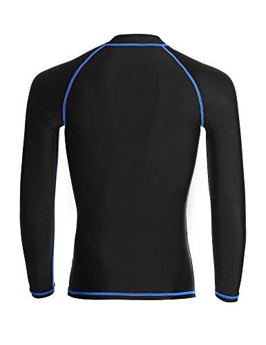 Dive sail rash guard men fast dry long sleeve swim shirt for Big and tall quick dry shirts
