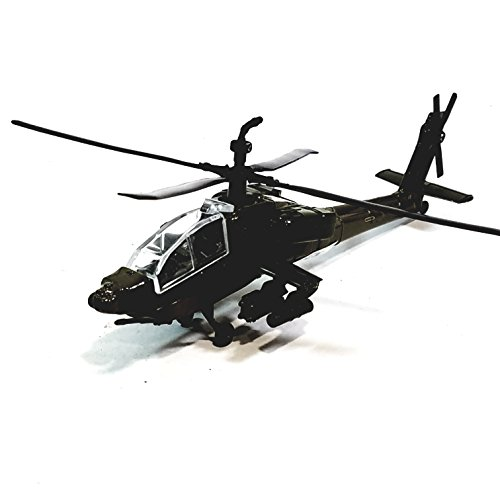 Showcasts Collectibles Boeing AH-64 Apache Longbow Military Aircraft 1/100 Scale Diecast Helicopter B ()