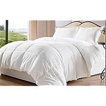 White Goose Down Alternative Comforter Duvet Cover Insert Queen Twin King Size(Queen)