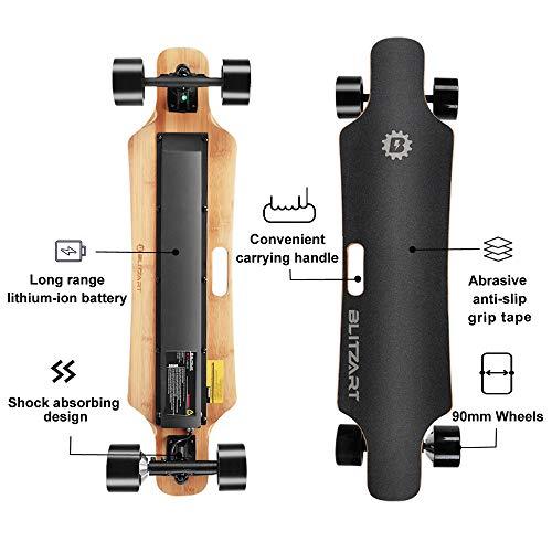 BLITZART Huracane 38\u0026quot; Electric Skateboard Electronic Longboard 17mph 350W HubMotor 3.5\u0026quot; 90mm