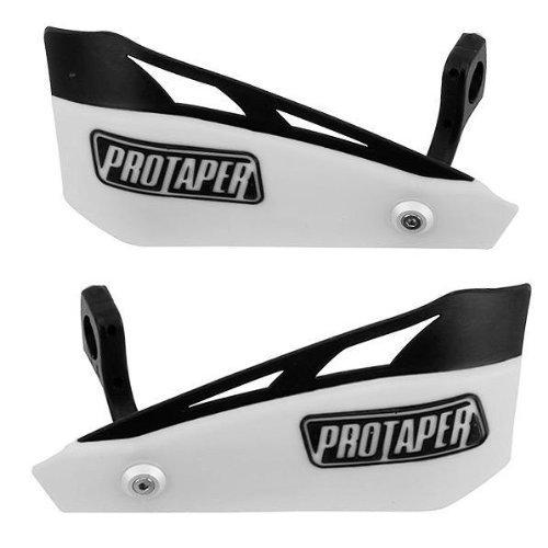 Pro Taper White Brushguard Kit (Mounts Pro Bar Taper)