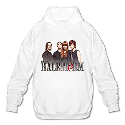 Price comparison product image WYBU Men's Halestorm Long Sleeve Sweater Size XL White, 100% Organic Cotton