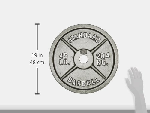 Cap Barbell 45 Lb Gray Olympic Weight Plate Single Ebay