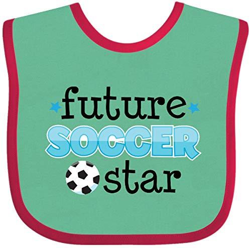 Inktastic - Future Soccer Star Baby Bib Green and Red ed8b