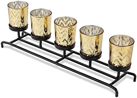 Bellezani Candle Centerpieces for Tables – Decorative Tealight Candle Holder Centerpieces for Dining Room Table, Coffee Table Decor, Mantel, Kitchen. Stylish Candle Holders for Table Decorations