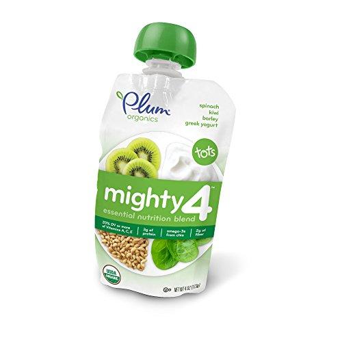 Plum Organics Tots Mighty 4 Purees - Banana, Kiwi, Spinach,