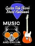 #9: Guitar Tab Blank Sheet Notebook: 8.5 x 11 blank guitar tab music sheet manuscript notebook is great for creative musicians, music students or teachers.