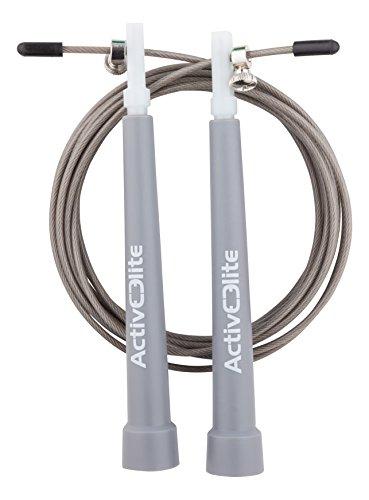 ActiveElite - Profi Springseil für Sport & Fitness - Ideal für: Boxen, Crossfit, MMA, WOD - BONUS: Transporttasche