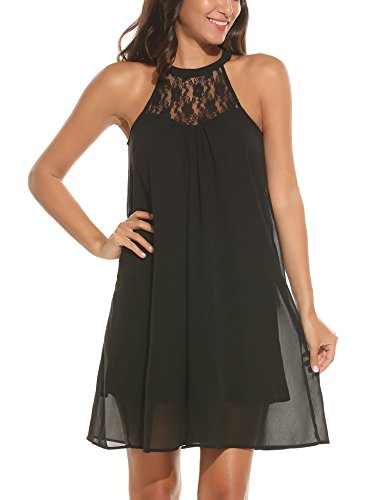 Chiffon Halter Wrap Dress - 6