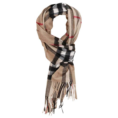 Burberry Cashmere Scarf - Burberry Camel Brown Iconic Giant Check Cashmere Scarf 3929522