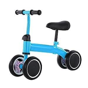 Y&MoD Bicicleta Bebé Equilibrio sin Pedales, 4 Ruedas Balance Bike ...