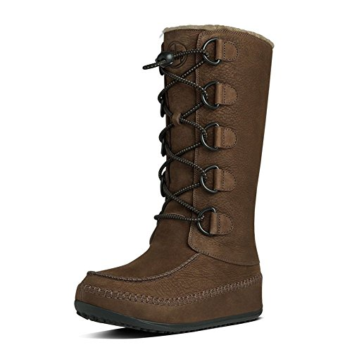 FitFlop Women's Tall Mukluk Moc 2 Boot,Chocolate Brown,6 ...