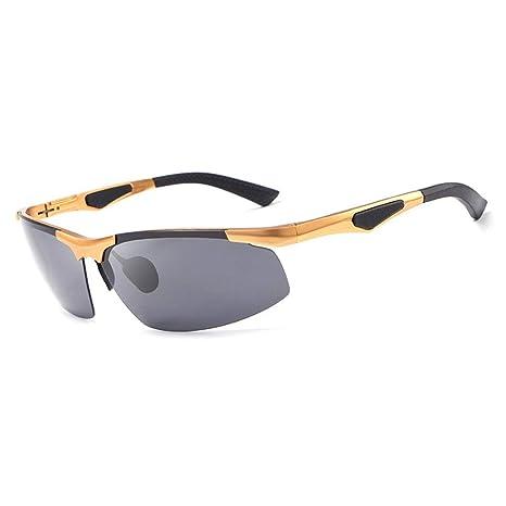 Gafas Gafas de Sol polarizadas Hombres sin Marco Deportes ...