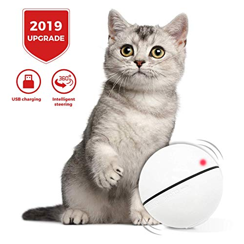 HOLOYO Cat Toy Balls Smart Interactive Cat Ball Toy,360 Degree Self Rotating Balls USB Rechargeable Automatic Rolling…