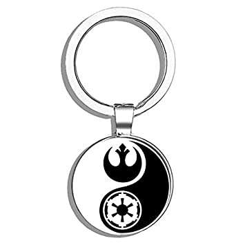 Amazon.com: HJ Media Star Wars Yin Yang - Llavero de metal ...