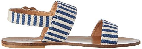 Love Moschino, Sandalias Planas Mujer Blanco (Blue)