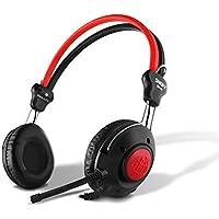 Snopy SN-58 Siyah/kırmızı Esnek Mik. Helezon Yaylı Kablo Mikrofonlu Kulaklık