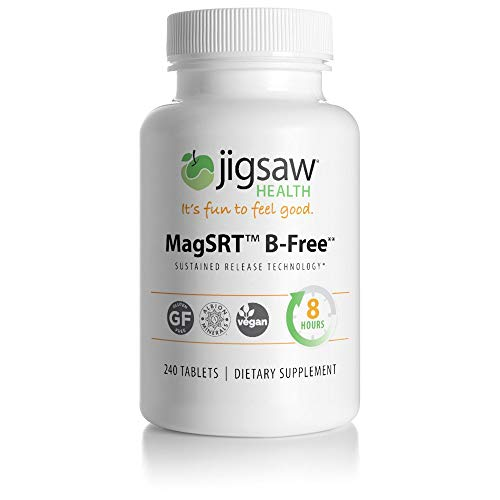- MagSRT (Jigsaw Health Magnesium w/SRT - B-Free) Premium, Organic, Slow Release Magnesium Supplement - Active, Bioavailable Magnesium Malate Tablets - 240 ct