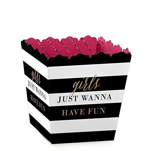 Girls Night Out - Party Mini Favor Boxes - Bachelorette Party Treat Candy Boxes - Set of 12