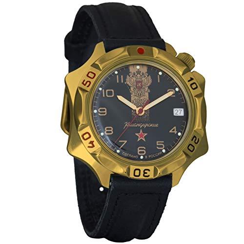 Vostok Komandirskie Double-Headed Eagle Mechanical Mens Military Wrist Watch #539792