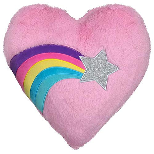 iscream Good Lovin' Furry Plush Shooting Star Heart Shaped 16