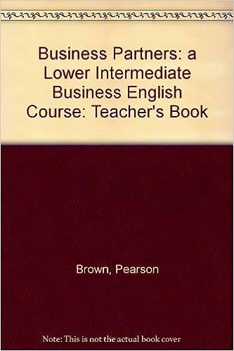 Descargar libros de audio en francés gratis Business Partners: a Lower Intermediate Business English Course: Teacher's Book in Spanish PDF DJVU FB2