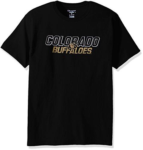 Colorado Buffaloes T-shirt (NCAA Colorado Buffaloes Men's Champ Short sleeve T-Shirt 1, X-Large, black)