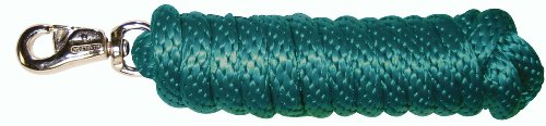 - Hamilton Extra Heavy Poly Rope Lead with Bull Snap, Dark Green, 5/8