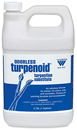 MARTIN/F. WEBER COMPANY BR1685 Odorless Turpenoid 128Oz 1 Gallon, 3.79L Bottle