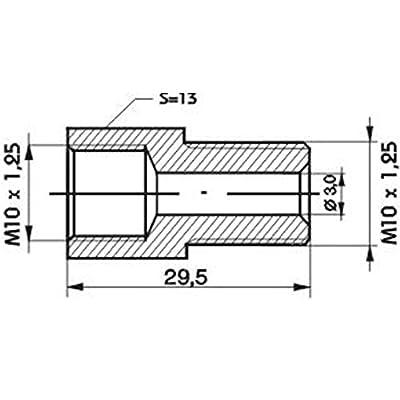 Adaptateur, flexible de frein WP R 138 Auto et Moto