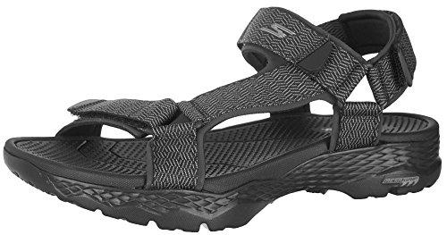 Skechers Men's GO Walk Outdoors-Nature Sport Sandal, Black/Gray, 11 M US by Skechers