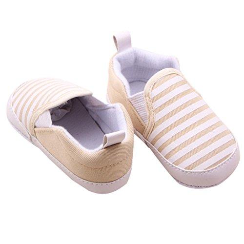 Tefamore Zapatos Bebé De Franja Embroma Los Recién Nacidos Niñas Niño Pequeño marrón