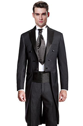 Hanayome Men's 2015 New Regular 2 Pieces Tuxedo Suit Separate & Pants U39?Black,54L? New 54l Mens Suit