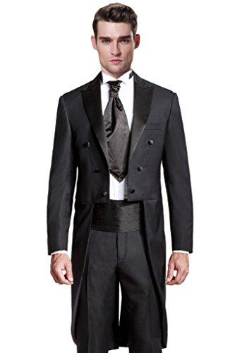 - Hanayome Men's 2015 New Regular 2 Pieces Tuxedo Suit Separate & Pants U39?Black,54L?