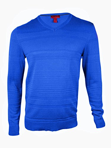 UPC 636193635691, Alfani Men's Textured V-Neck Slim Fit Sweater Cobalt Hue 2X