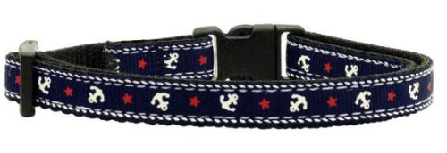 Anchors Nylon Ribbon Collar Blue Cat Safety (24 Pack) [Misc.]