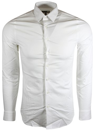 Express Men's Extra Slim Buttondown Shirt (M, White) -
