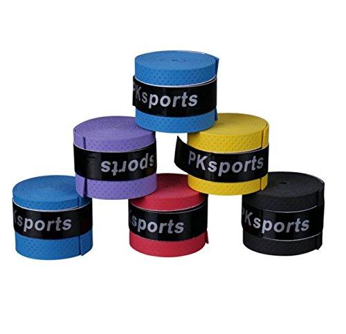 10pcs Anti-slip Badminton Tennis Racket Racquet Grip Overgrip Tape (Random Colour) Liroyal