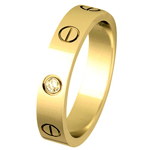 (MLYSA Lifetime Love Rings for Women Men Couples Valentine's Day Promise Engagement Wedding Titanium Stainless Steel Band)