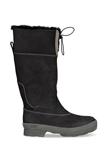 Dierentuin Avontuur - Beaudine - Waterdichte Outdoor Laarzen En Winter Laarzen Van Leer Voor Vrouwen Zwart 001