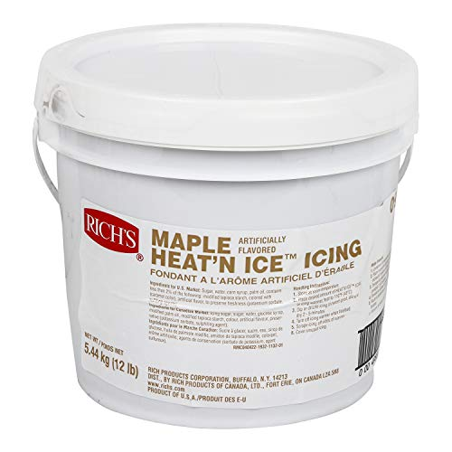 Rich's Heat 'N Ice Donut Icing for Donuts, Rolls & More, Maple, 12 lb Pail -