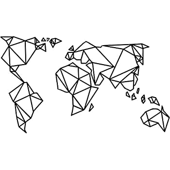Amazon.com: Homefind Black 29''w x 16''h Geometric Designs World