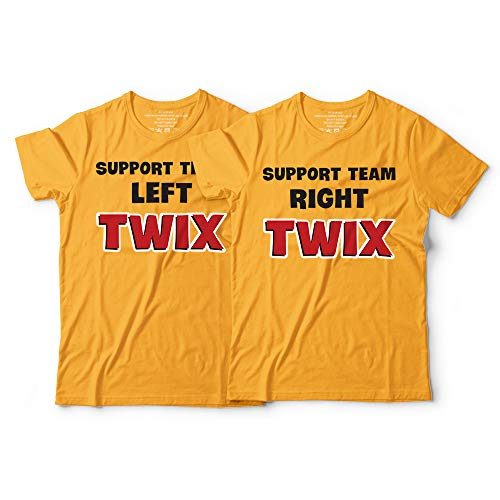 Left-Twix Right-Twix Support Team Chocolate Couple Twin Matching Halloween Costume Customized Handmade Hoodie/Sweater/Long Sleeve/Tank Top/Premium T-shirt -