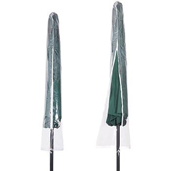 Outdoor Patio Umbrella Cover Transparent Waterproof Bag for 13 Foot Umbrella