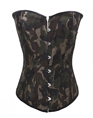 Blidece Sexy Women Army Camouflage Fashion Corset, Halloween Costume X-Large (Military Halloween Costumes For Womens)