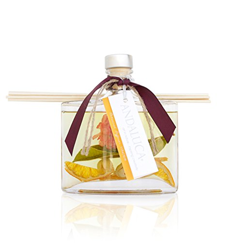 Honeysuckle Home Fragrance - Andaluca Forbidden Flower Oasis Scented Reed Diffuser | Large 5.5 Fluid Ounce Bottle | Floral Aromas of Jasmine, Lilac, Honeysuckle and Rose | Essential Oils Infused | Floral Home Fragrance