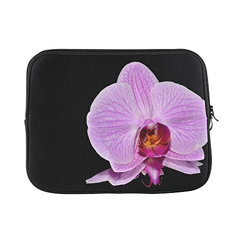 "Price comparison product image Design Custom Orkide Flower Pink Sleeve Soft Laptop Case Bag Pouch Skin for MacBook Air 11""(2 Sides)"