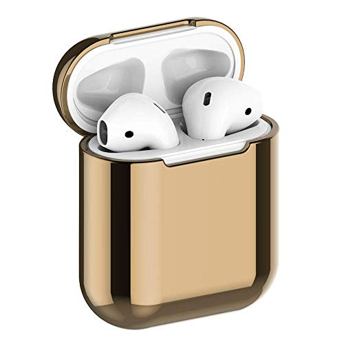 JuQBanke Compatible for AirPod Case,Airpod Skin,Airpod Accessories Shockproof Protective case Cover Silicone Skin for Apple AirPods Charging Case,Gold