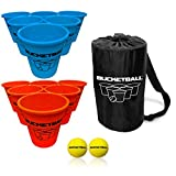 Bucket Ball - Beach Edition Starter Pack - Ultimate Beach, Pool, Yard, Camping, Tailgate, BBQ, Lawn, Water, Indoor, Outdoor Game - Best Gift Toy for Adults, Boys, Girls, Teens, Family