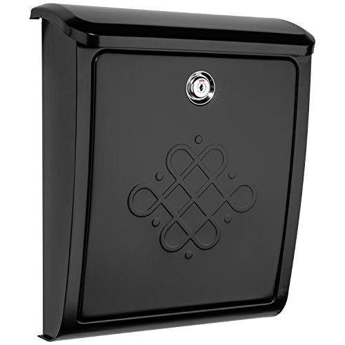 Wall Mailbox Mount Design (Architectural Mailboxes 2697B Bordeaux Locking Black Wall Mount Mailbox, Small)